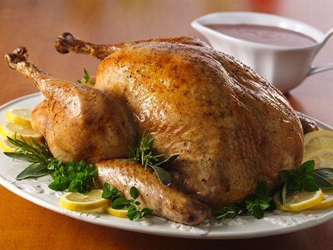 Enjoy this herb roasted turkey basted with Progresso® chicken broth ...