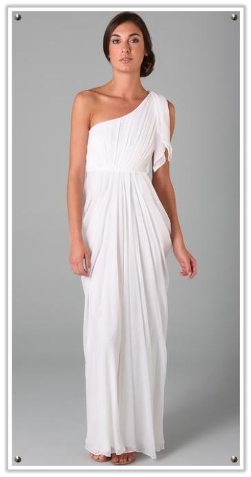 Roman toga inspired wedding dress bride wedding dresses for Toga style wedding dress