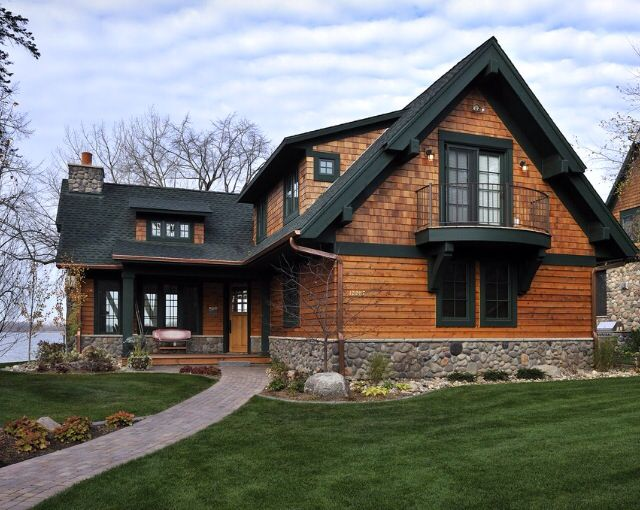 Wood And Stone House Log Homes Cabins And Wonderful