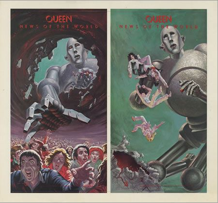The robot from the cover of the Queen album  quot News of the World quot   These    Queen Album Covers Robot