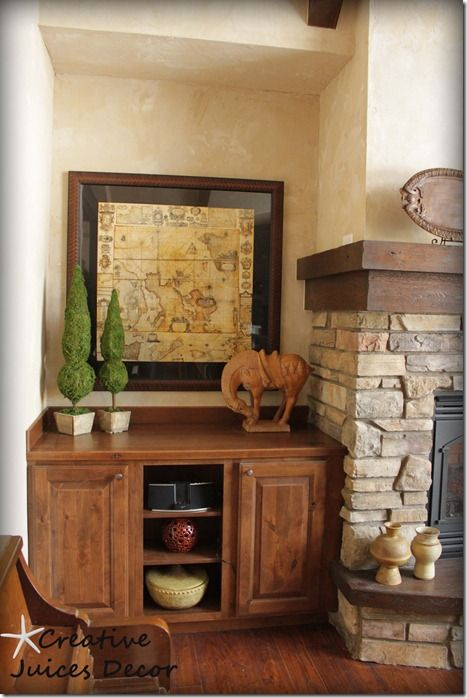 Blog rustic tuscan fireplace side rustic fireplace for Rustic fireplace decor