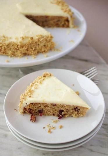 Parsnip Cake with Orange Cream Frosting - skipped the dried cherries ...