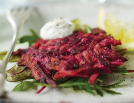 ... marthastewart com 316440 carrot and beet latkes for the beet fritters