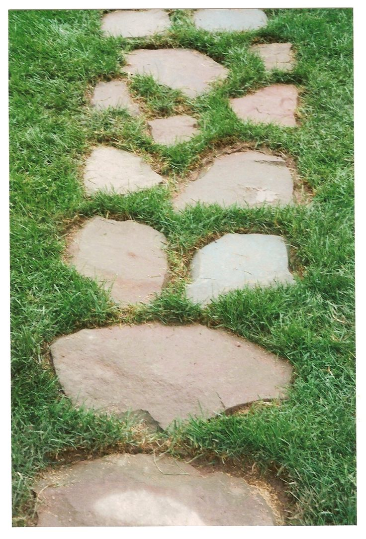 stepping stone walkway backyard ideas pinterest