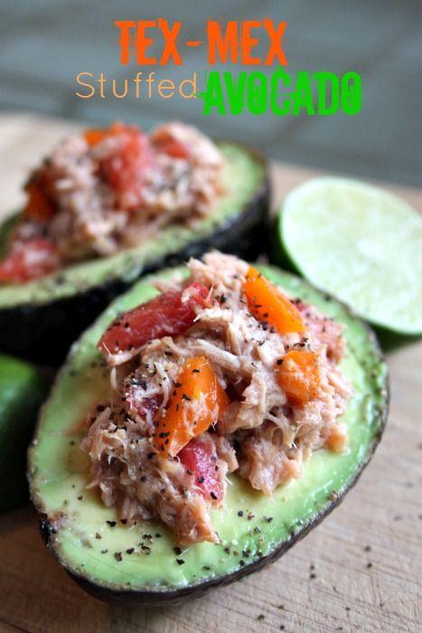 Tex-Mex Tuna Salad Stuffed in Avocados | Food | Pinterest