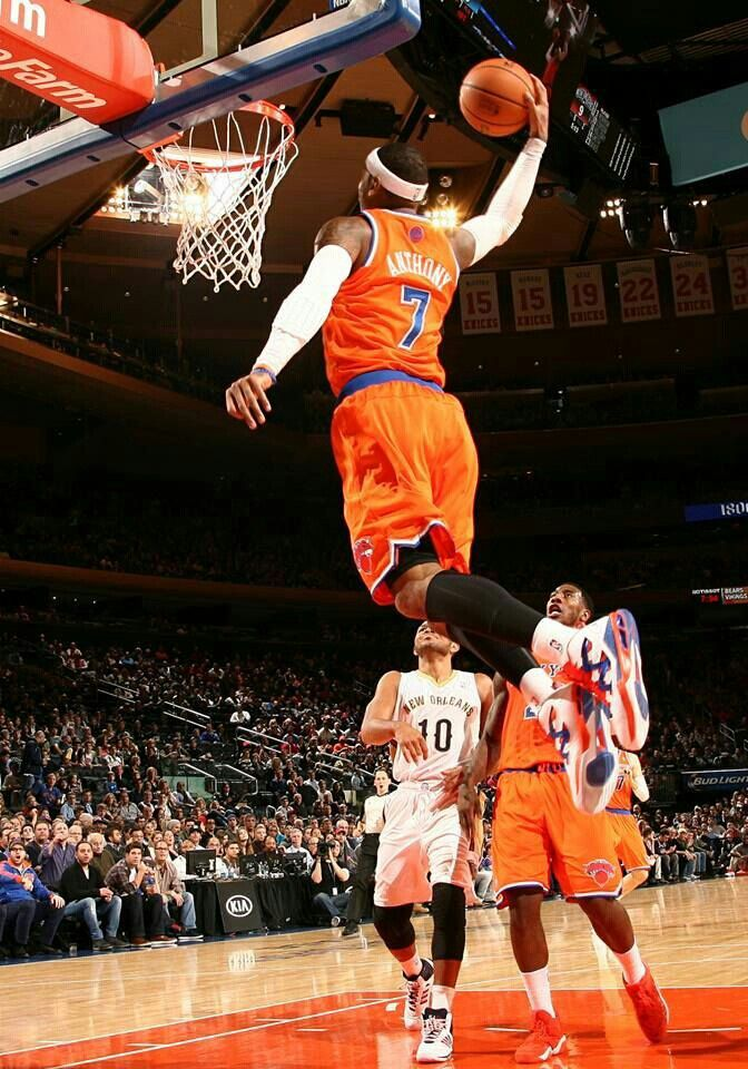dunk by carmelo anthony basketball is life pinterest