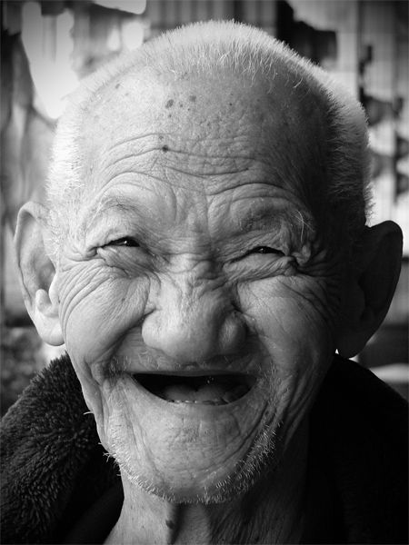 Funny faces of old people