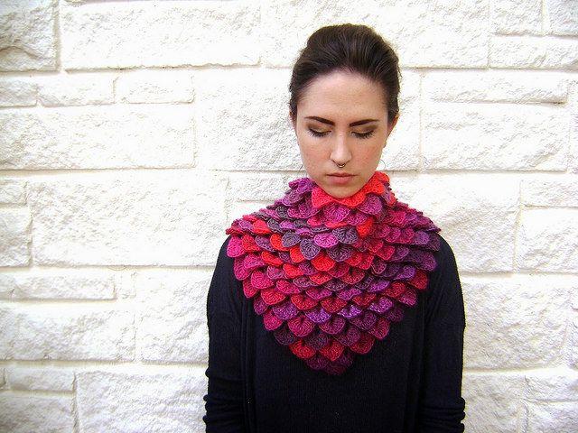wow, i want it! gorgeous crocodile stitch shawl by sheila #crochet #handmade #design