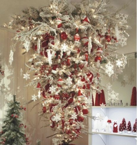 Upside Down Tree Christmas Decorations Pinterest
