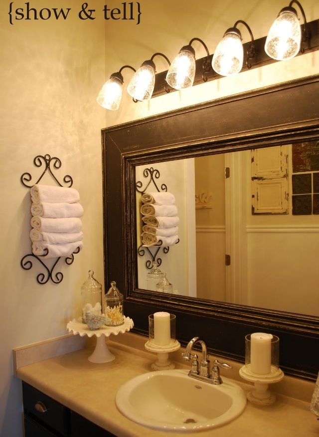 master bath redo the mirror for the home pinterest