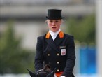 Elaine Pen of Netherlands rides Vira in the Equestrian Dressage