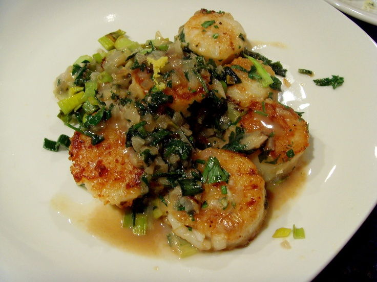 scallops with creamy leeks, recipe courtesy Sprouted Kitchen. disaster ...