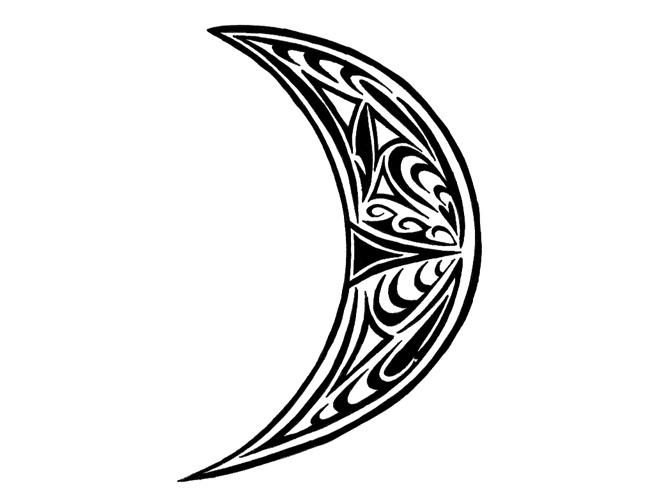 Tribal Celtic Crescent Moon Tattoo Tabatha Tattoo