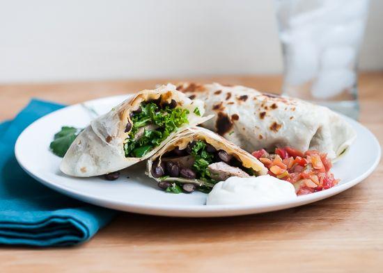 Meal-Sized Pork and Black Bean Burritos