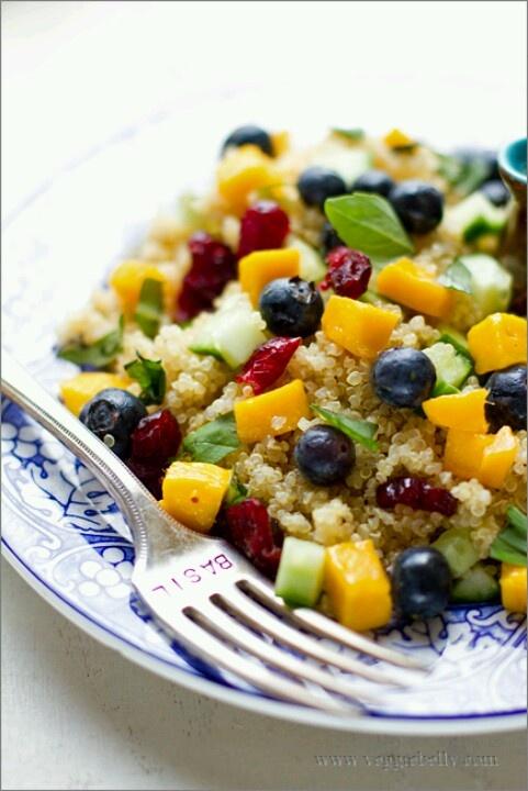 Mango berry quinoa | Fat kid/skinny girl | Pinterest
