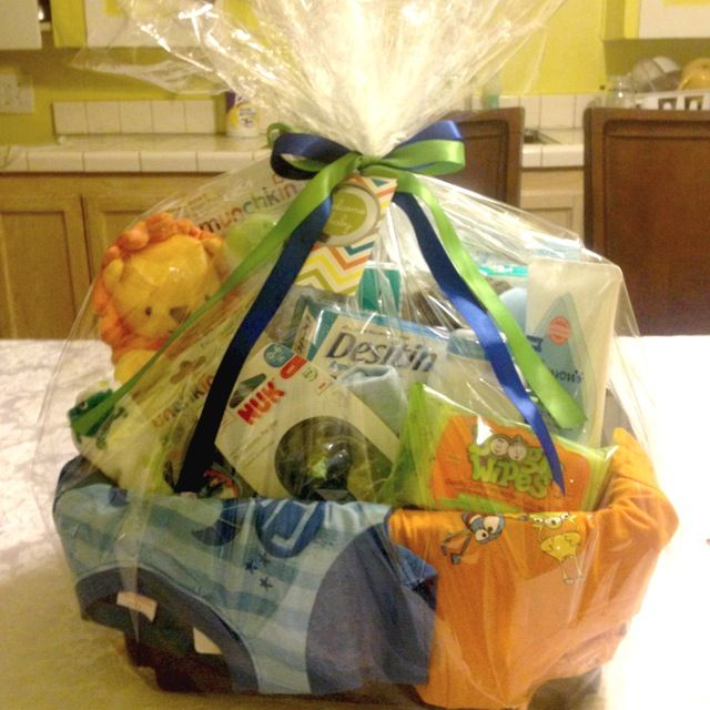 Baby Gifts For Shower Boy : Boy baby shower gift basket
