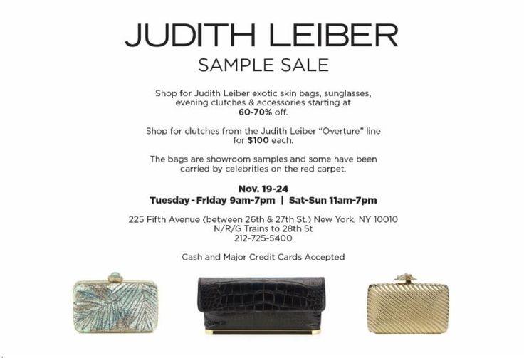 Judith Leiber Sample Sale