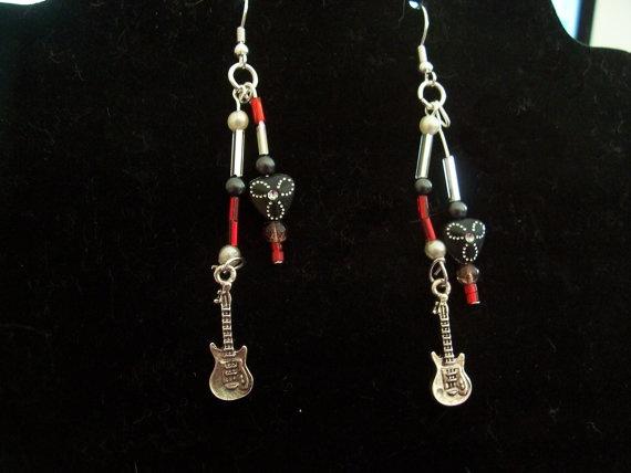 New Earrings for sale - Guitar Earrings