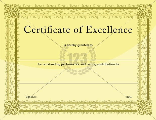 Certificate of excellence template certificate for Certificate of excellence template