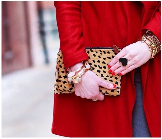 A winning combination: red + leopard.   #ValentinesDay