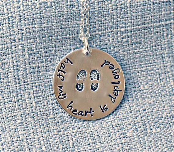 Military Necklace Hand Stamped Deployment by 3LittlePixiesShoppe, $38.00