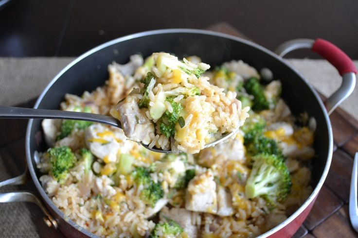 Cheesy Broccoli, Chicken, and Rice - Sarcastic Cooking
