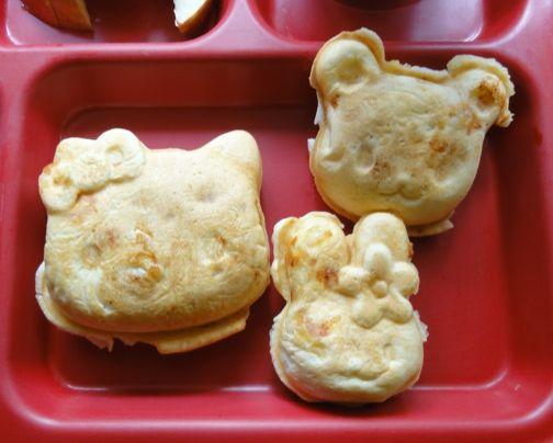 Mac 'n' Cheese waffles shaped like Hello Kitty