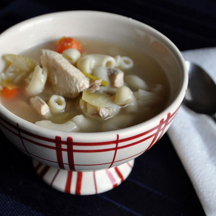 Roasted Chicken Noodle Soup with leeks | Zuppe ♥♥♥ | Pinterest