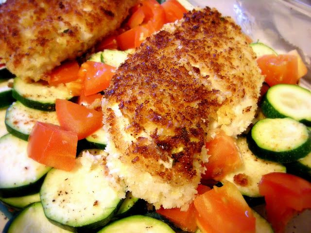 Baked chicken with zucchini and tomatoes | Food | Pinterest