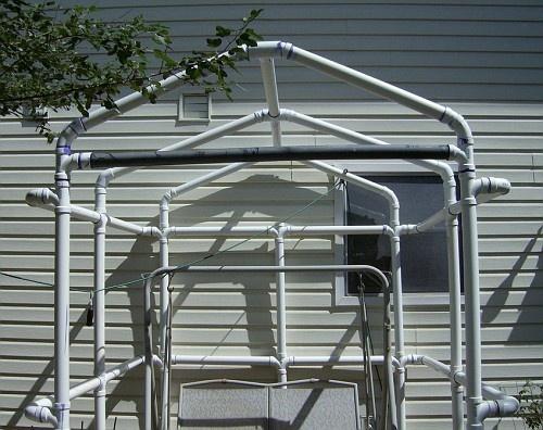 pvc gazebo greenhouse frame perhaps garden pinterest