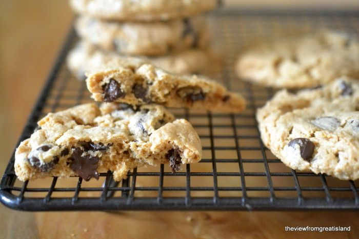 Flourless Cashew Butter Chocolate Chip Cookies - The View from Great ...