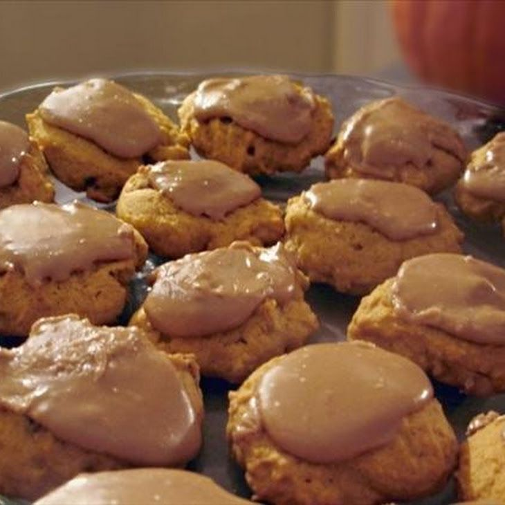 Nanny's Pumpkin Cookies With Maple Penuche Frosting