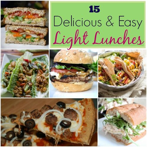 15 delicious easy recipes for light lunches