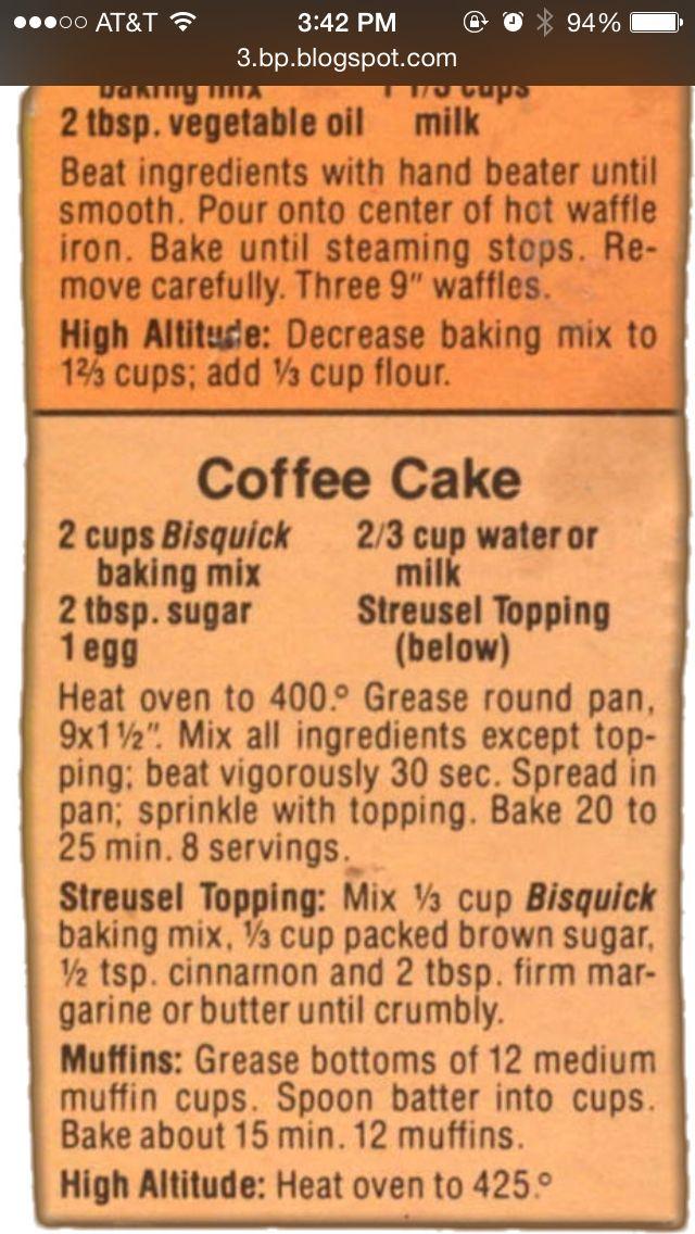 Recipe Bisquick Coffee Cake Muffins