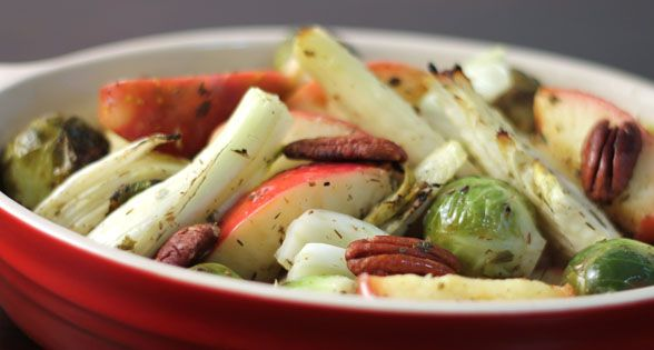... Vegetable Roast with Apples, Fennel & Brussels Sprouts (low sodium