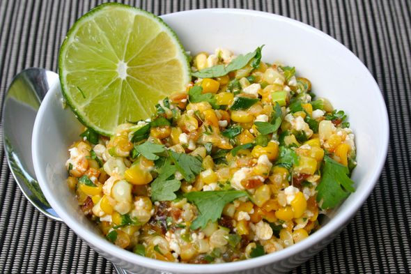 Mexican Street Corn Salad, but with @chobani instead of mayo