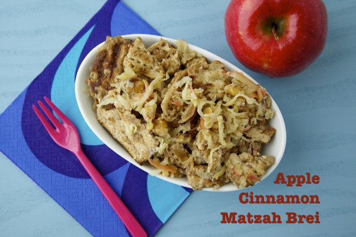 Apple Cinnamon Matzah Brei on Weelicious