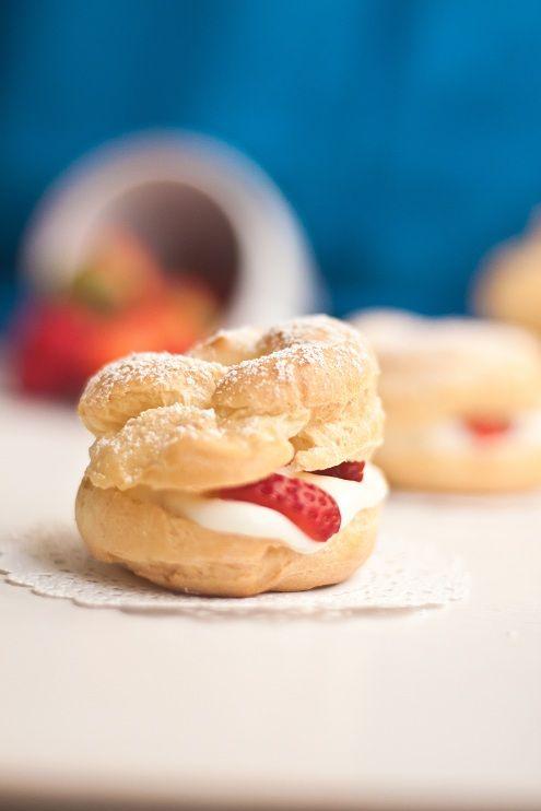 Cream Puffs Filled With Lemon Mascarpone Cream Recipe — Dishmaps