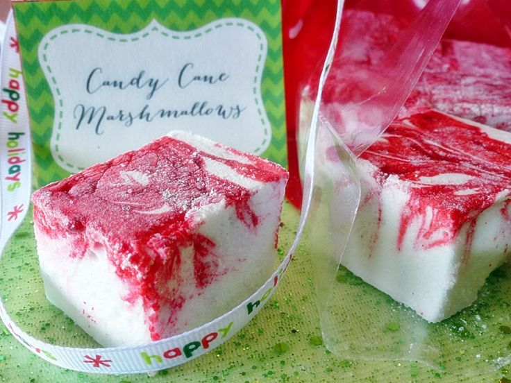 Candy Cane Marshmallows | Baking - Christmas | Pinterest