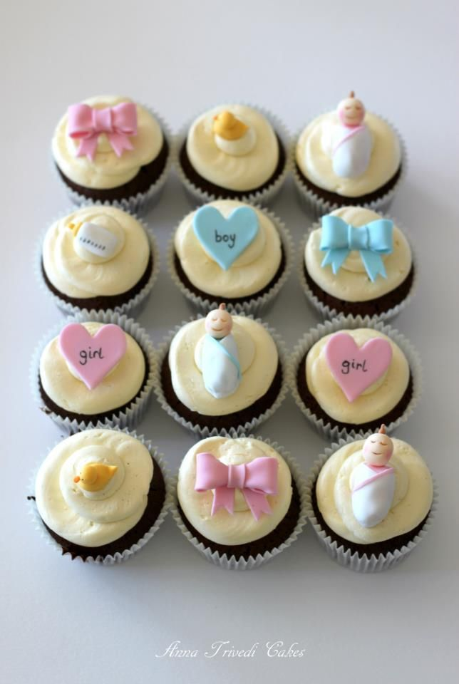 Cupcakes for the baby shower
