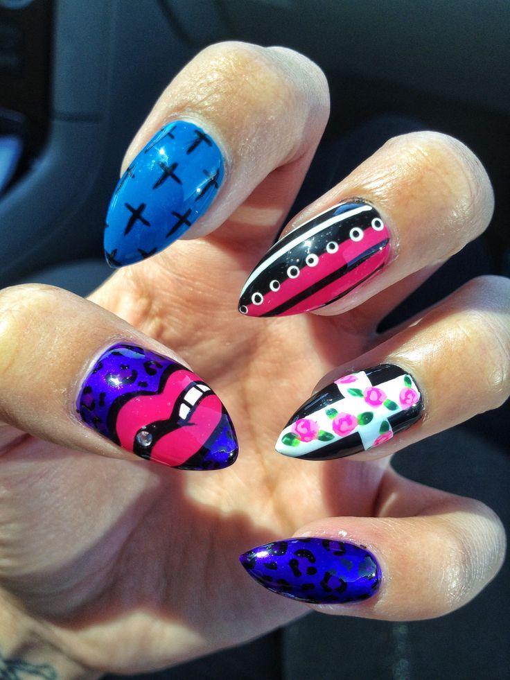 Cross nail art | My clawssss | Pinterest