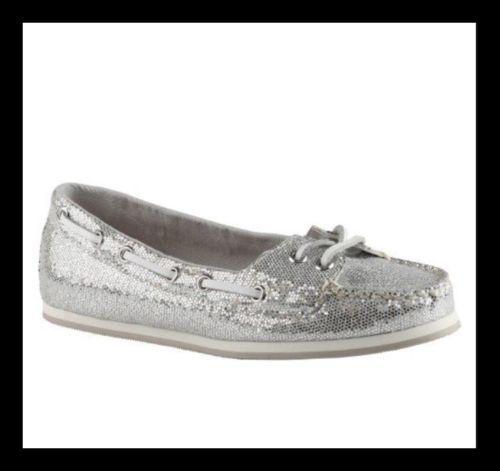 ALDO- Gorley Womens Silver Flats SOLD OUT! New In Box Size 8