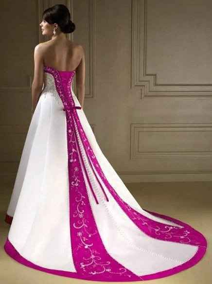 Wedding gowns with color accents i do pinterest for Wedding dresses with color accents