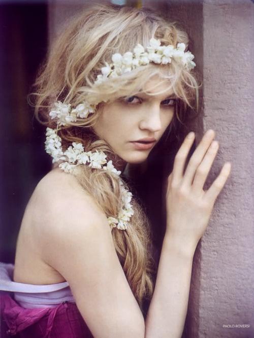 White blossom flower crown