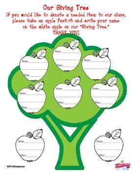 More like this: the giving tree , charts and trees .