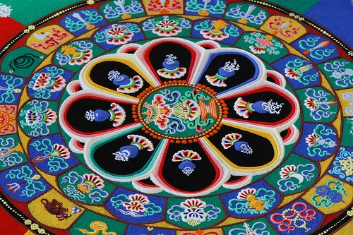 Tibetan Buddhist Mandala by Arlene Gee, via Flickr