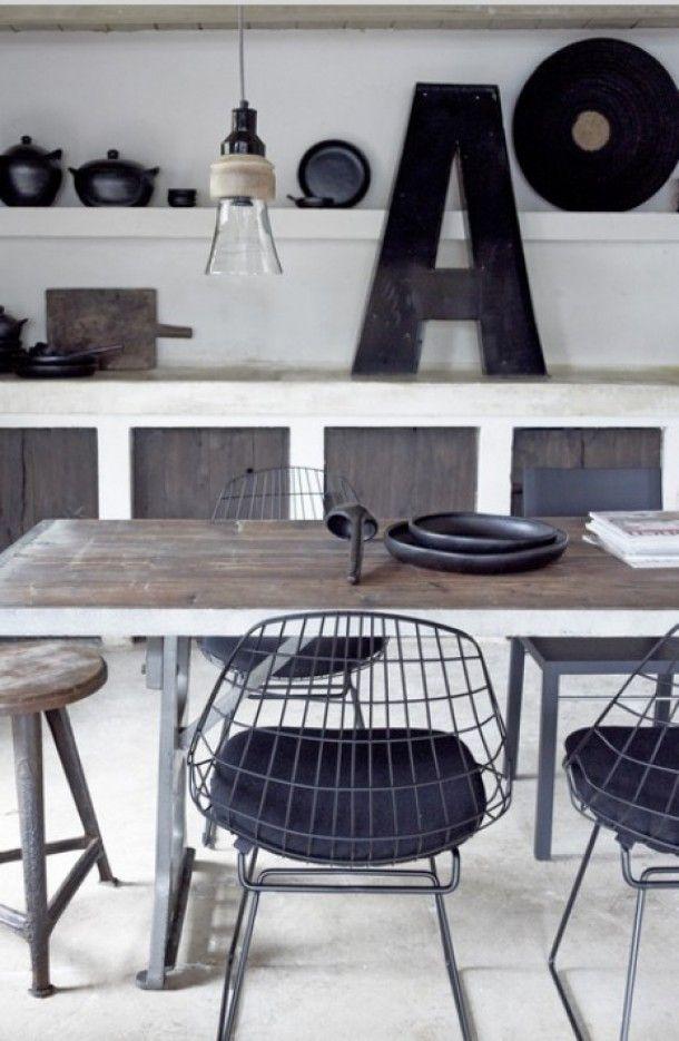 Keuken Wit Grijs : industriele wit grijs zwarte keuken