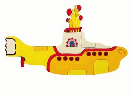 The Beatles  Yellow Submarine tattoo stencil Yellow Submarine Stencil