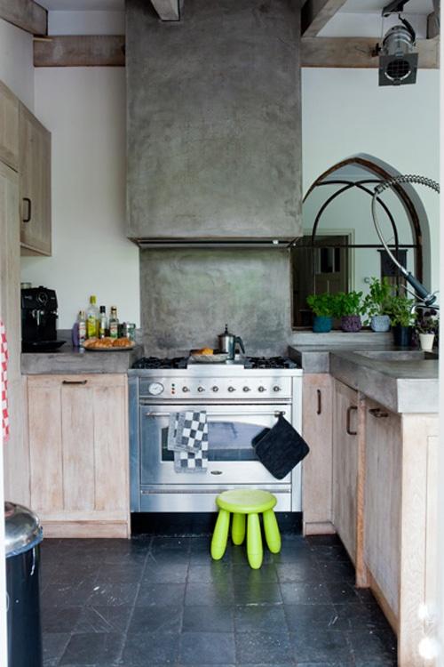 Betonlook keuken - tadelakt. Betonlook keukenblad, afgewerkt met ...