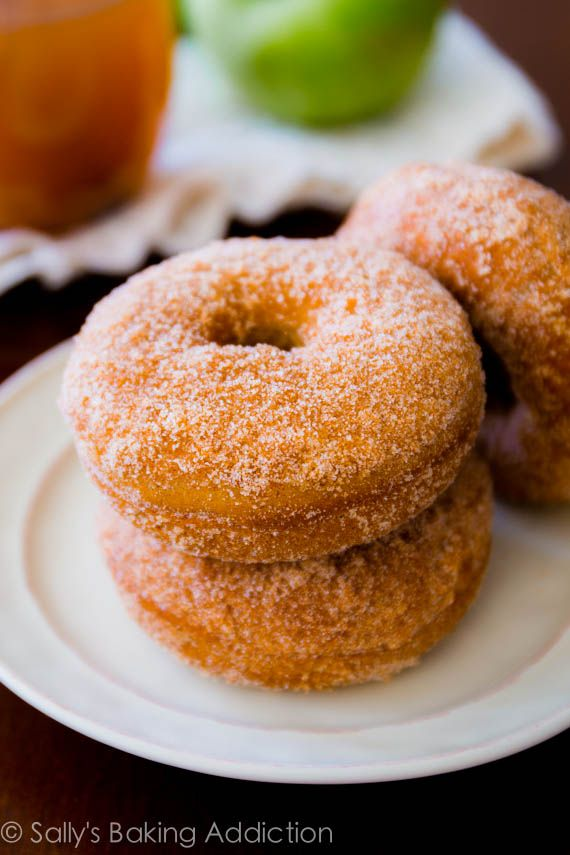 Spiced Apple Cider Donuts, made in the oven with simple ingredients ...